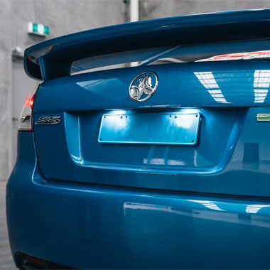 Holden VE SS Commodore LED Number Plate Conversion