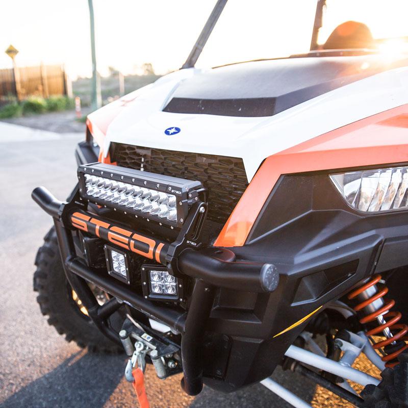 ST4K LED Bar fitted to Polaris Ranger