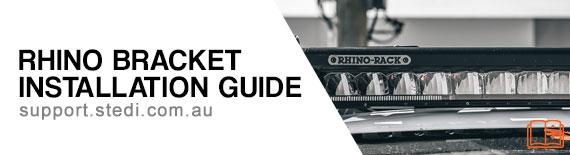 Rhino Rack LED Light Bar Bracket Installation Guide