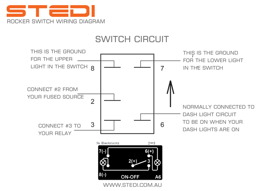 Wiring Diagram Illuminated Rocker Switch : Wiring diagram volt terminal switch free