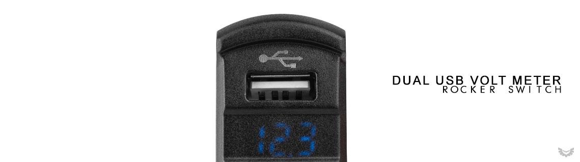 USB Volt Meter Rocker