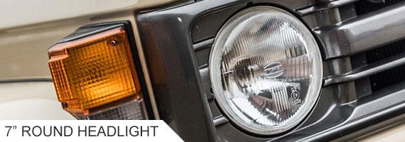 Landcruiser 75 Series Round Headlight