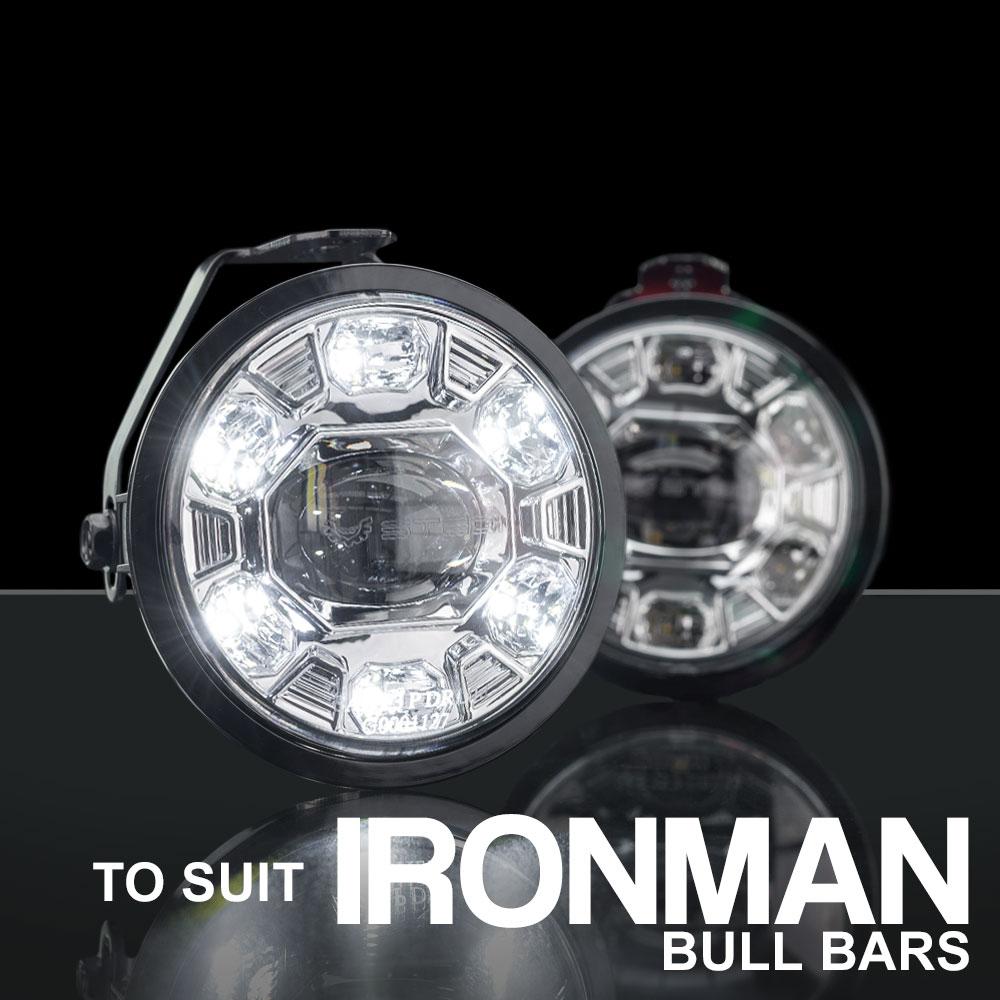 STEDI LED Fog Light to suit IronMan 4x4 Bullbars