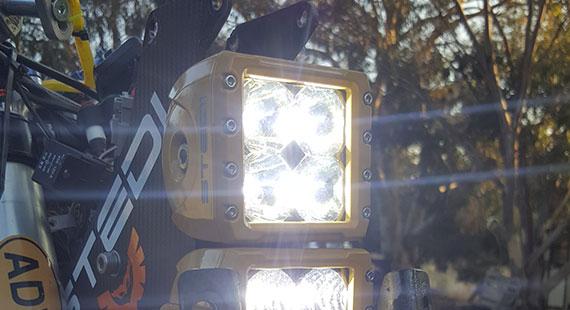 C4 Spot LED Light Yamaha Install