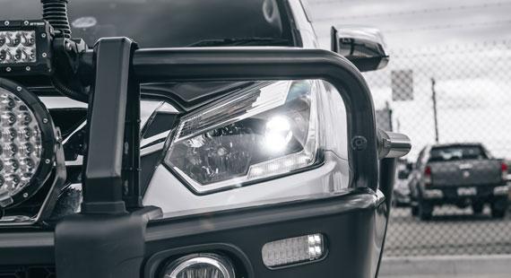 Isuzu D MAX LED Headlight Globe Conversion