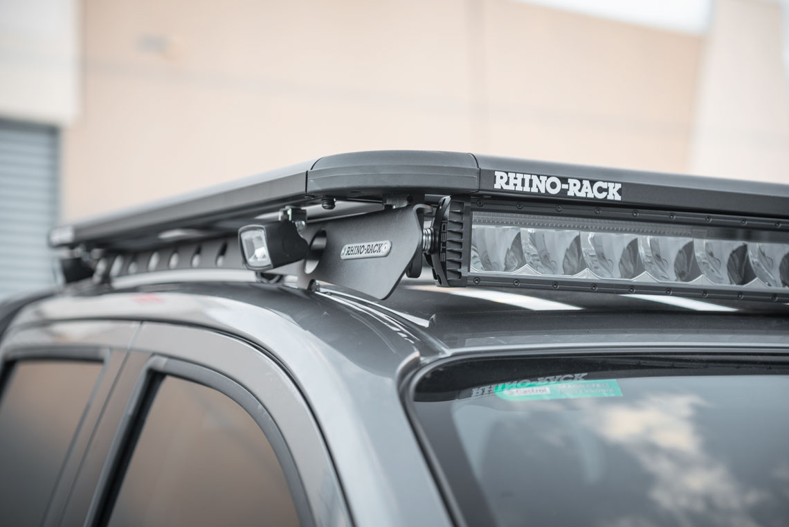 STEDI ST2K LED Light Bar Mounted below Rhino Platform