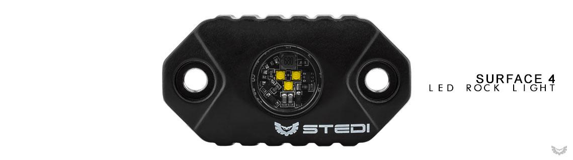 STEDI LED Surface Rock Light Black Edition 4 Pack
