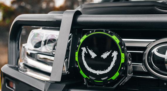STEDI Type X Pro Green Colour Ring 200 Series Toyota Landcruiser